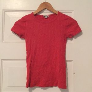 Textured J-Crew Red Top